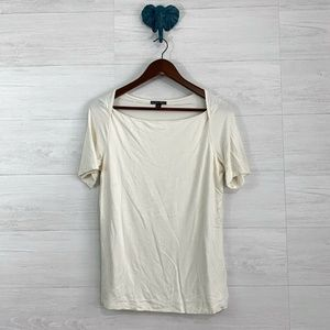 Brooks Brothers Cream Stretch Knit Top